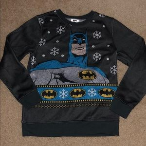 🎄BIG BOYS - Batman Christmas Sweater - Size M